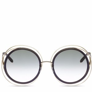 Chloe Carlina Oversized Round Sunglasses, 58mm | Bloomingdale's