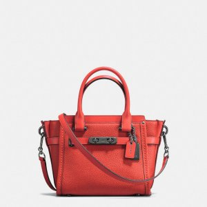 COACH: Swagger Carryall 27 In Pebble Leather