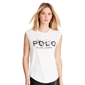 Cotton Jersey Graphic Tee - Activewear � Women - RalphLauren.com