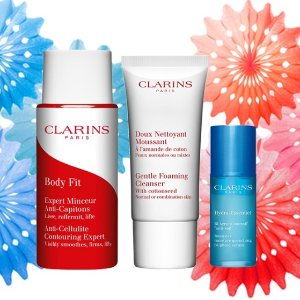 One Day Only! $45 Value GiftWith any $50 order @ Clarins