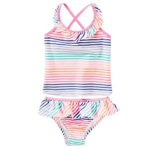 Kid Girl OshKosh Striped Tankini | OshKosh.com