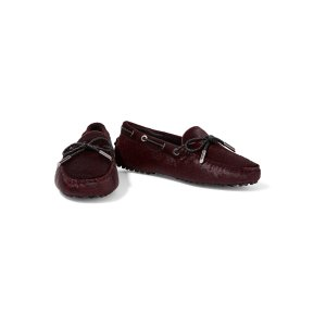 Heaven leather-trimmed printed calf hair loafers | Tod's
