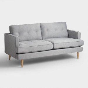 Dove Gray Woven Apel Sofa