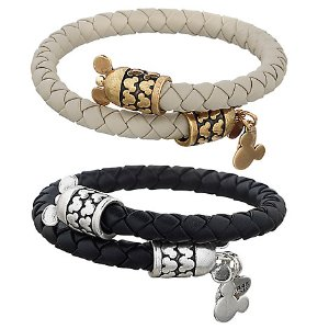 Mickey Mouse Leather Wrap Bracelet by Alex and Ani | Disney Store