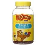 L'il Critters Omega-3 小熊儿童鱼油软糖120粒
