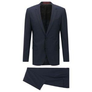 'C-Huge/C-Genius' | Slim Fit, Nailhead Italian Extra-Fine Virgin Wool Suit