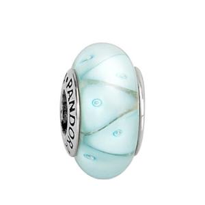 Rue La La — PANDORA Silver Murano Glass Looking Glass Charm