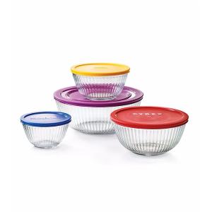 Pyrex® 连盖8件套玻璃碗 | Bon-Ton