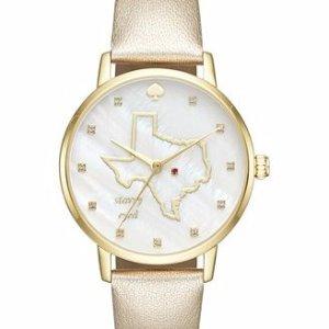 $97.49 (Orig $195)kate spade new york Women's Metro Japanese Quartz Gold Watches 4 styles
