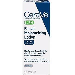 $7.88CeraVe Moisturizing Facial Lotion PM, 3 Ounce