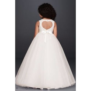 NEW! Ball Gown Flower Girl Dress with Heart Cutout