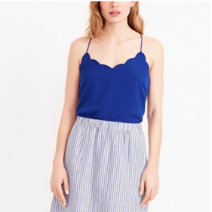 Scalloped cami top : FactoryWomen Sleeveless | Factory