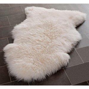 Safavieh Prairie Natural Pelt Sheepskin Wool White Shag Rug (2' x 3') - Free Shipping Today - Overstock.com - 13993425