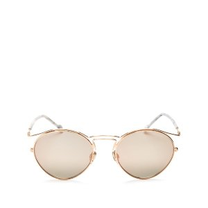 Dior Mirrored Round Sunglasses, 52mm | Bloomingdale's