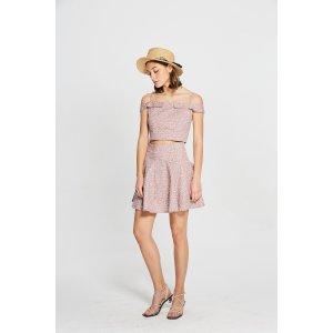 Lively Pink Top/Skirt Set DR1489