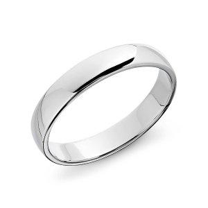Classic Wedding Ring in Platinum (4mm) | Blue Nile
