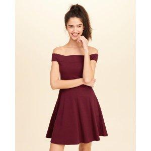 Girls Knit Off-The-Shoulder Dress | Girls New Arrivals | HollisterCo.com