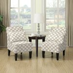 Dani Armless Accent Chair, Set of 2