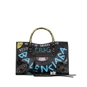 Balenciaga Small Classic City Graffiti Bag