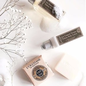 Choose 1 free soapwith Any Purchase @ L'Occitane