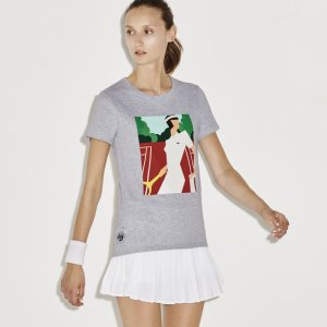 Women's SPORT French Open Player Print T-Shirt | LACOSTE