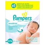 Pampers 敏感皮肤型婴儿湿巾, 576张