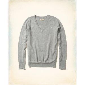Girls V-Neck Icon Sweater | Girls Hollister Sale | HollisterCo.com