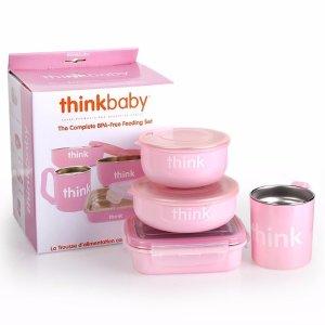 thinkbaby The Complete BPA Free Feeding Set, Light Pink
