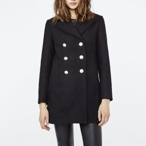 GALERIA Peacoat with gold buttons - Coats & Jackets - Maje.com
