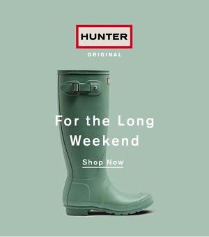 From $90Succulent Green Rain Boots @ Hunter
