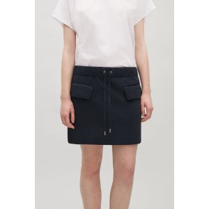 Drawstring scuba skirt - Navy - Sale - COS US