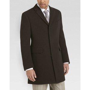 Tommy Hilfiger Brown Herringbone Modern Fit Coat - Men's Casual Jackets   Men's Wearhouse