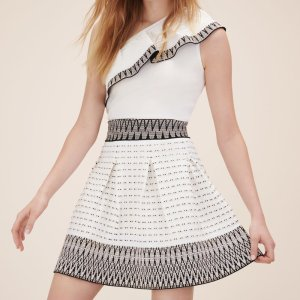 JISELLE Jacquard knit puffball skirt - Skirts & Shorts - Maje.com