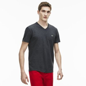Men's V-Neck Pima Cotton Jersey T-Shirt | LACOSTE