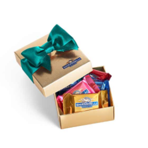 Chocolate Favor Gift Box with Spring Ribbon (5 pc) | Ghirardelli