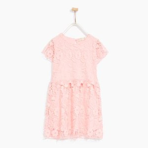 GUIPURE LACE DRESS WITH WAIST DETAIL - DRESSES-GIRL | 4-14 years-KIDS-SALE | ZARA United States