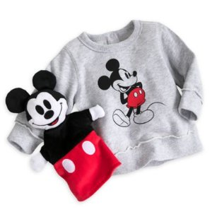 Mickey Mouse Sweatshirt and Hand Puppet Gift Set for Baby