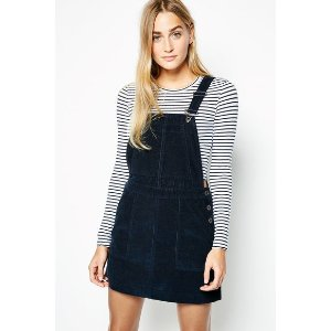 AVONDOWN CORD DUNGAREE DRESS | JackWills US