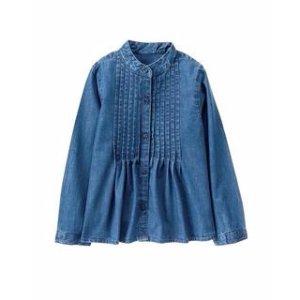 Pintuck Chambray Shirt