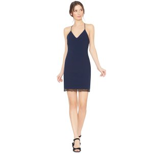 Leigh Low Cross Back Fitted Dress