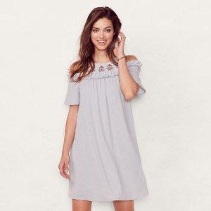 Women's LC Lauren Conrad Cold-Shoulder Shift Dress