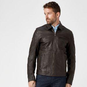 Timberland | Men's Mount Major Leather Bomber Jacket