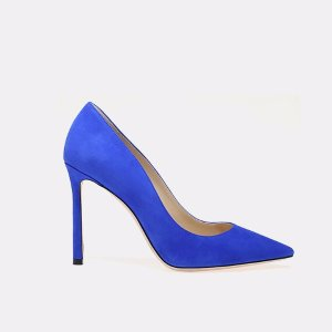 Jimmy Choo Romy 100 Suede Pointy Toe Pump Heels