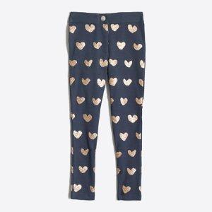 Girls' Gigi pant in sparkle hearts : gigi | J.Crew Factory