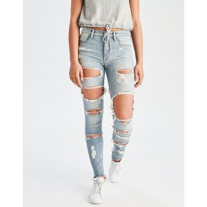 AEO Denim X Super Hi-Rise Jegging, Icy Blue | American Eagle Outfitters