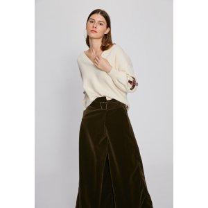 Ribbon Lacing Sleeve Sweater TP2104