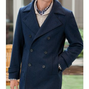 Executive Wool Peacoat CLEARANCE - All Clearance   Jos A Bank