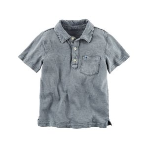 Toddler Boy Sunwashed Jersey Polo | Carters.com