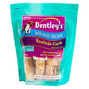 Dentley's Rawhide Curls Dog Treats | dog Bones & Rawhide | PetSmart