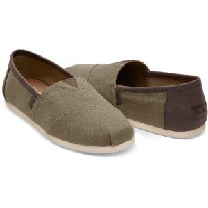 Olive Washed Canvas Men's Classics   TOMS®